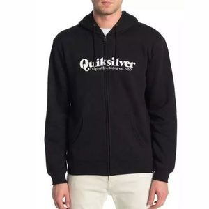 Quiksilver Small Twin Fin Mate Full Zip Up Hoodie
